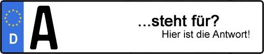 Wofür steht das Kfz-Kennzeichen A? | Kfz-Kennzeichen - AUTOPURISTEN.net