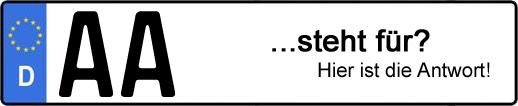Wofür steht das Kfz-Kennzeichen AA? | Kfz-Kennzeichen - AUTOPURISTEN.net