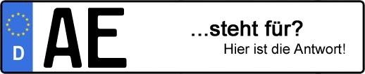 Wofür steht das Kfz-Kennzeichen AE? | Kfz-Kennzeichen - AUTOPURISTEN.net