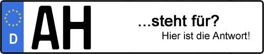 Wofür steht das Kfz-Kennzeichen AH? | Kfz-Kennzeichen - AUTOPURISTEN.net
