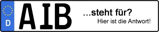 Wofür steht das Kfz-Kennzeichen AIB? | Kfz-Kennzeichen - AUTOPURISTEN.net