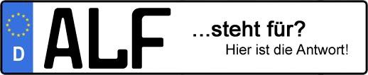 Wofür steht das Kfz-Kennzeichen ALF? | Kfz-Kennzeichen - AUTOPURISTEN.net