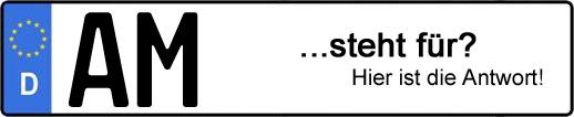 Wofür steht das Kfz-Kennzeichen AM? | Kfz-Kennzeichen - AUTOPURISTEN.net