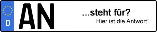 Wofür steht das Kfz-Kennzeichen AN? | Kfz-Kennzeichen - AUTOPURISTEN.net
