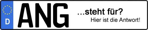 Wofür steht das Kfz-Kennzeichen ANG? | Kfz-Kennzeichen - AUTOPURISTEN.net