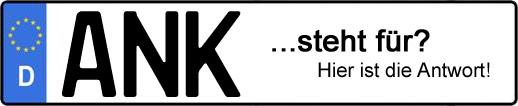 Wofür steht das Kfz-Kennzeichen ANK? | Kfz-Kennzeichen - AUTOPURISTEN.net