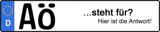 Wofür steht das Kfz-Kennzeichen AÖ? | Kfz-Kennzeichen - AUTOPURISTEN.net