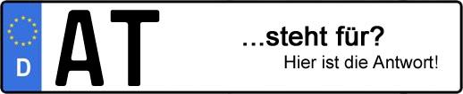 Wofür steht das Kfz-Kennzeichen AT? | Kfz-Kennzeichen - AUTOPURISTEN.net