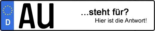 Wofür steht das Kfz-Kennzeichen AU? | Kfz-Kennzeichen - AUTOPURISTEN.net