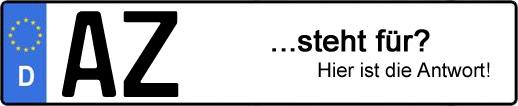 Wofür steht das Kfz-Kennzeichen AZ? | Kfz-Kennzeichen - AUTOPURISTEN.net