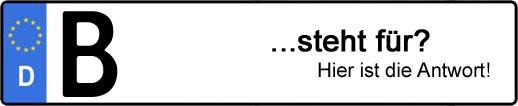 Wofür steht das Kfz-Kennzeichen B? | Kfz-Kennzeichen - AUTOPURISTEN.net
