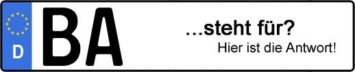 Wofür steht das Kfz-Kennzeichen BA? | Kfz-Kennzeichen - AUTOPURISTEN.net