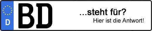 Wofür steht das Kfz-Kennzeichen BD? | Kfz-Kennzeichen - AUTOPURISTEN.net