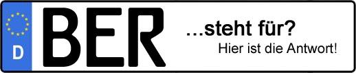 Wofür steht das Kfz-Kennzeichen BER? | Kfz-Kennzeichen - AUTOPURISTEN.net
