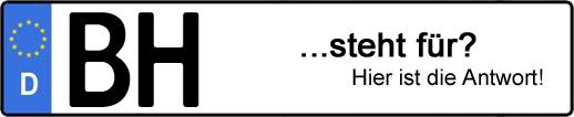 Wofür steht das Kfz-Kennzeichen BH? | Kfz-Kennzeichen - AUTOPURISTEN.net