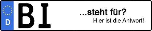 Wofür steht das Kfz-Kennzeichen BI? | Kfz-Kennzeichen - AUTOPURISTEN.net