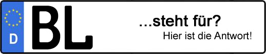 Wofür steht das Kfz-Kennzeichen BL? | Kfz-Kennzeichen - AUTOPURISTEN.net