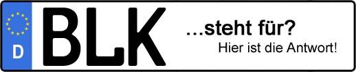 Wofür steht das Kfz-Kennzeichen BLK? | Kfz-Kennzeichen - AUTOPURISTEN.net