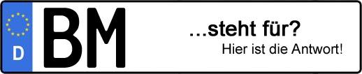 Wofür steht das Kfz-Kennzeichen BM? | Kfz-Kennzeichen - AUTOPURISTEN.net