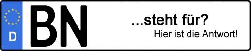Wofür steht das Kfz-Kennzeichen BN? | Kfz-Kennzeichen - AUTOPURISTEN.net