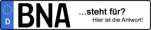 Wofür steht das Kfz-Kennzeichen BNA? | Kfz-Kennzeichen - AUTOPURISTEN.net