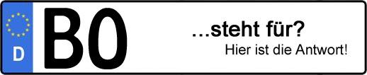 Wofür steht das Kfz-Kennzeichen BO? | Kfz-Kennzeichen - AUTOPURISTEN.net