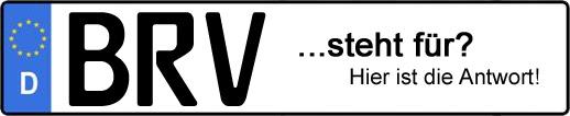 Wofür steht das Kfz-Kennzeichen BRV? | Kfz-Kennzeichen - AUTOPURISTEN.net