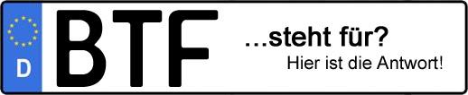 Wofür steht das Kfz-Kennzeichen BTF? | Kfz-Kennzeichen - AUTOPURISTEN.net