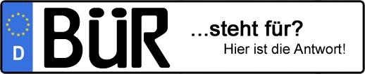 Wofür steht das Kfz-Kennzeichen BÜR? | Kfz-Kennzeichen - AUTOPURISTEN.net