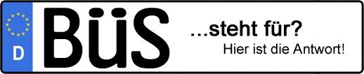 Wofür steht das Kfz-Kennzeichen BÜS? | Kfz-Kennzeichen - AUTOPURISTEN.net