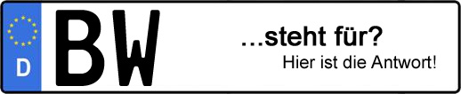Wofür steht das Kfz-Kennzeichen BW? | Kfz-Kennzeichen - AUTOPURISTEN.net