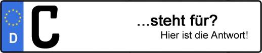 Wofür steht das Kfz-Kennzeichen C? | Kfz-Kennzeichen - AUTOPURISTEN.net
