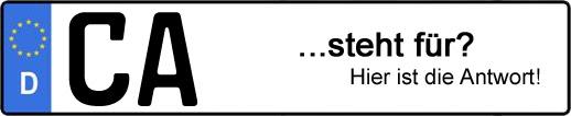 Wofür steht das Kfz-Kennzeichen CA? | Kfz-Kennzeichen - AUTOPURISTEN.net