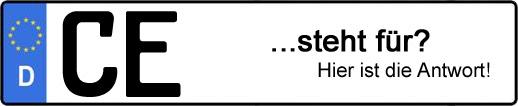 Wofür steht das Kfz-Kennzeichen CE? | Kfz-Kennzeichen - AUTOPURISTEN.net