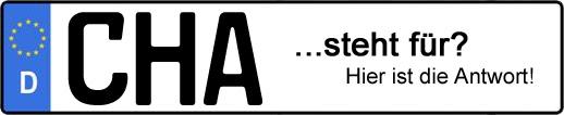 Wofür steht das Kfz-Kennzeichen CHA? | Kfz-Kennzeichen - AUTOPURISTEN.net