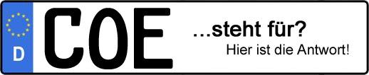 Wofür steht das Kfz-Kennzeichen COE? | Kfz-Kennzeichen - AUTOPURISTEN.net