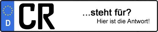 Wofür steht das Kfz-Kennzeichen CR? | Kfz-Kennzeichen - AUTOPURISTEN.net