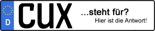 Wofür steht das Kfz-Kennzeichen CUX? | Kfz-Kennzeichen - AUTOPURISTEN.net