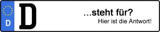 Wofür steht das Kfz-Kennzeichen D? | Kfz-Kennzeichen - AUTOPURISTEN.net