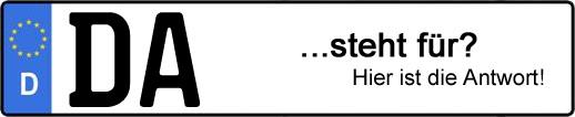 Wofür steht das Kfz-Kennzeichen DA? | Kfz-Kennzeichen - AUTOPURISTEN.net
