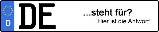 Wofür steht das Kfz-Kennzeichen DE? | Kfz-Kennzeichen - AUTOPURISTEN.net