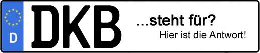 Wofür steht das Kfz-Kennzeichen DKB? | Kfz-Kennzeichen - AUTOPURISTEN.net