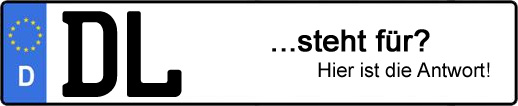 Wofür steht das Kfz-Kennzeichen DL? | Kfz-Kennzeichen - AUTOPURISTEN.net