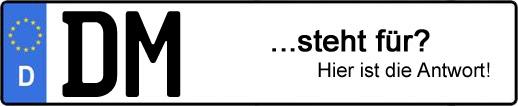Wofür steht das Kfz-Kennzeichen DM? | Kfz-Kennzeichen - AUTOPURISTEN.net