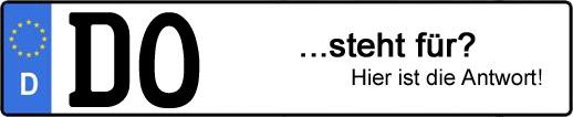 Wofür steht das Kfz-Kennzeichen DO? | Kfz-Kennzeichen - AUTOPURISTEN.net