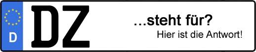 Wofür steht das Kfz-Kennzeichen DZ? | Kfz-Kennzeichen - AUTOPURISTEN.net