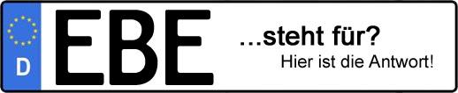 Wofür steht das Kfz-Kennzeichen EBE? | Kfz-Kennzeichen - AUTOPURISTEN.net