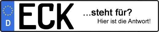 Wofür steht das Kfz-Kennzeichen ECK?   Kfz-Kennzeichen - AUTOPURISTEN.net