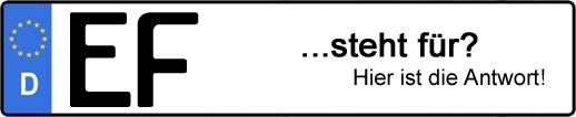 Wofür steht das Kfz-Kennzeichen EF?   Kfz-Kennzeichen - AUTOPURISTEN.net