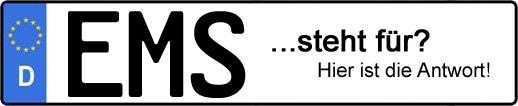 Wofür steht das Kfz-Kennzeichen EMS?   Kfz-Kennzeichen - AUTOPURISTEN.net